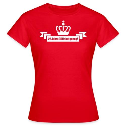25 Jahre CDU - Krone 4 - Frauen T-Shirt
