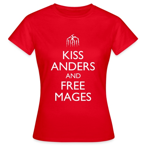 Kiss Anders and Free Mages Design - Women's T-Shirt