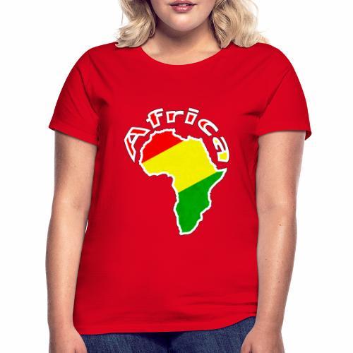 Afrika - rot gold grün - Frauen T-Shirt