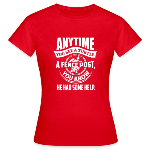 Turtle - T-skjorte for kvinner