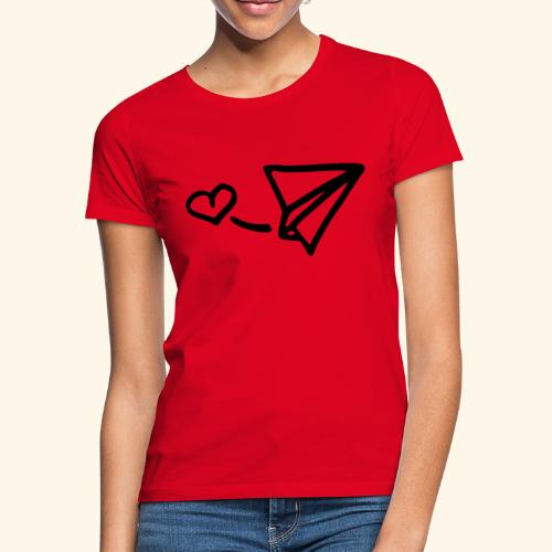 Hartjes Vliegtuigje - Vrouwen T-shirt
