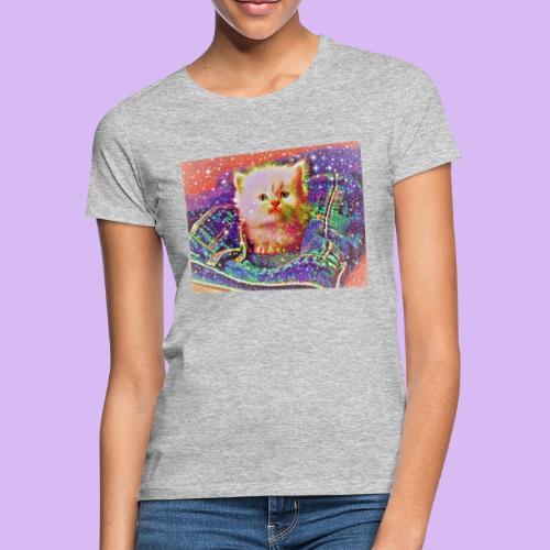Gattino scintillante nella tasca dei jeans - Maglietta da donna