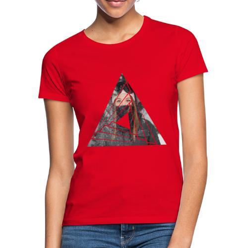 Snow Girl Triangle Graphic Design - Frauen T-Shirt
