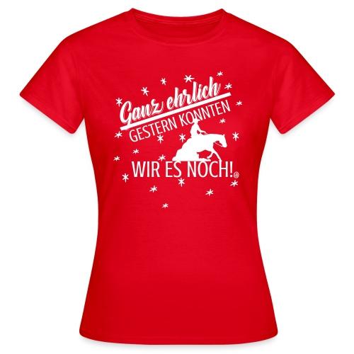 Gestern konnten wir es noch - Sliding stop - Frauen T-Shirt