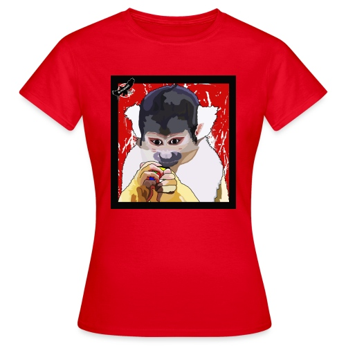 'Clever Monkey 2' by BlackenedMoonArts, w. logo - Dame-T-shirt
