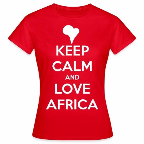 keep calm noir - T-shirt Femme