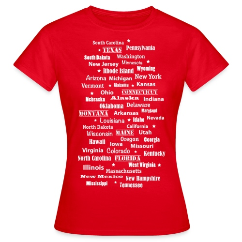 USA Amerika United States of America Bundesstaaten - Women's T-Shirt