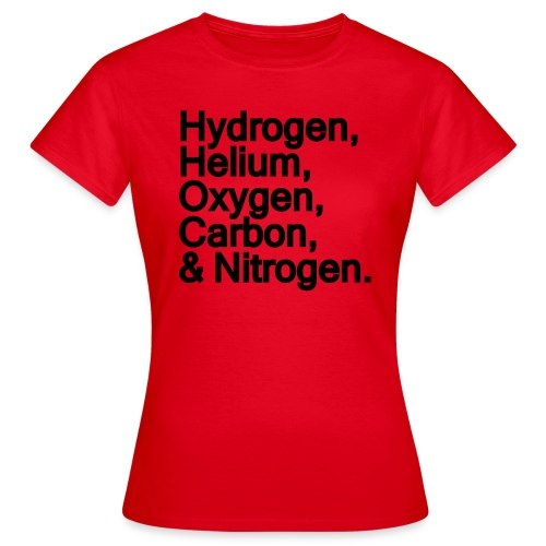 Ingredients for the Universe - Women's T-Shirt