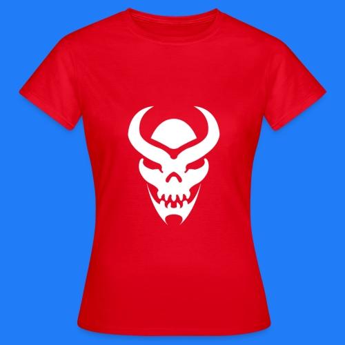 TRIBAL SKULL BLANC - T-shirt Femme