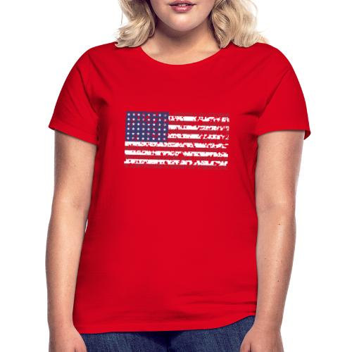 AVM WWII Trashed 48 star flag in color D'Day - Vrouwen T-shirt
