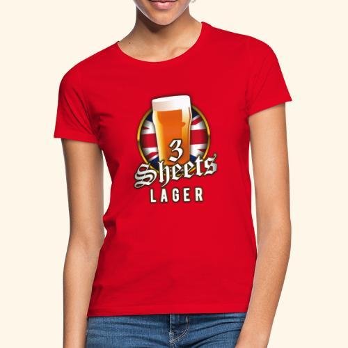 Beer Shirt Design 3 Sheets Lager - Frauen T-Shirt