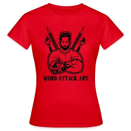 Word Attack Art - Frauen T-Shirt