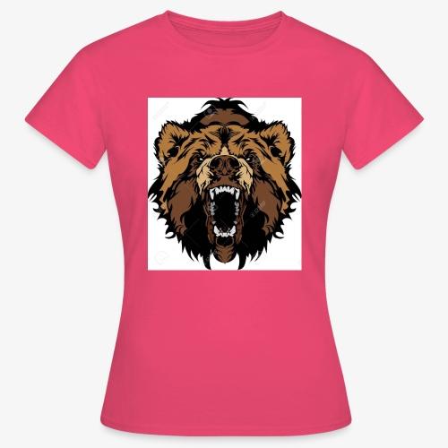 oso grizzly mascota cabeza vectorial - Camiseta mujer