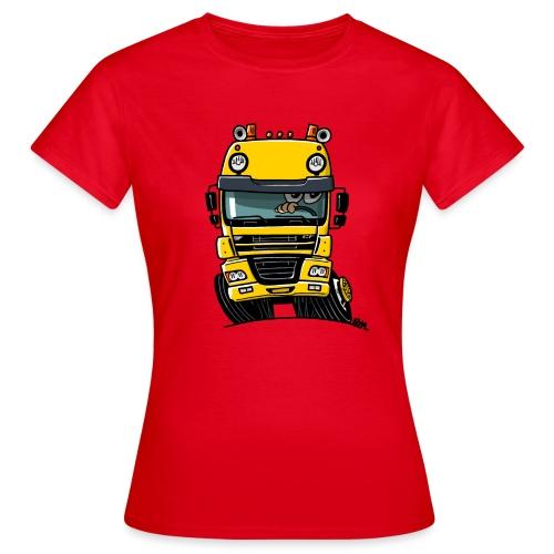 0810 D truck CF geel - Vrouwen T-shirt