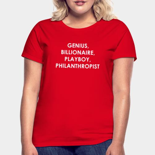 Genius Billionaire White - Women's T-Shirt