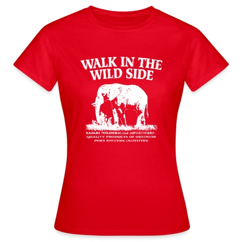 046 walk in the Elefant weiß png - Frauen T-Shirt