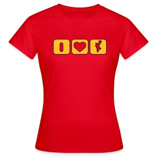 Valencian Love lateral - Xic - Camiseta mujer