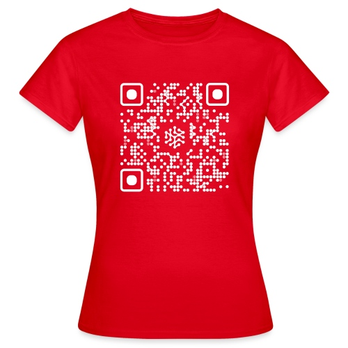 QR Safenetforum White - Women's T-Shirt