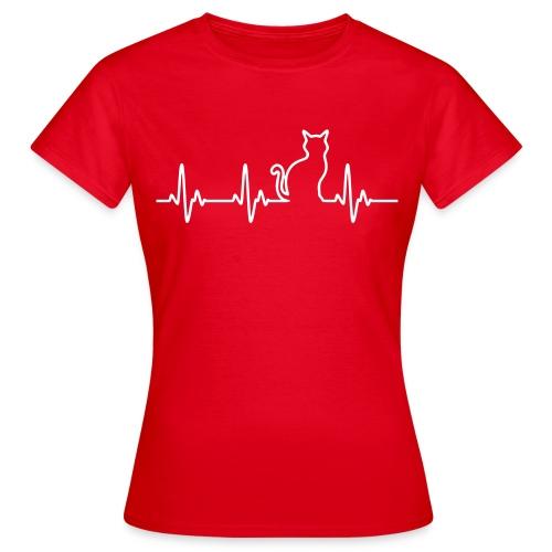 Vorschau: Ein Herz für Katzen - Frauen T-Shirt