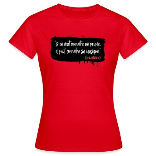 citation de platon - T-shirt Femme