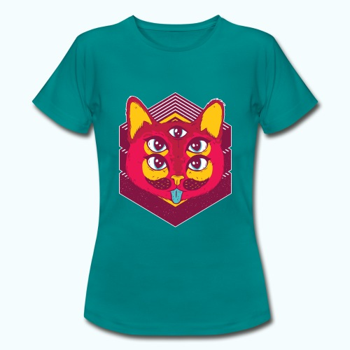 Psychedelic cat - Women's T-Shirt