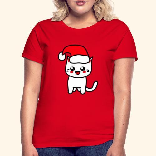 Kawaii Kitteh Christmashat - Frauen T-Shirt