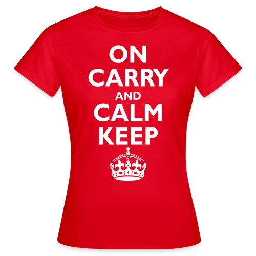Keep calm upside down - Women's T-Shirt