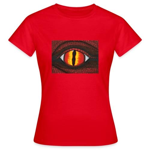 rotes Drachenauge - Frauen T-Shirt