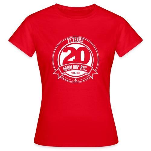 20 Years Aqualoop Records (white) - Women's T-Shirt