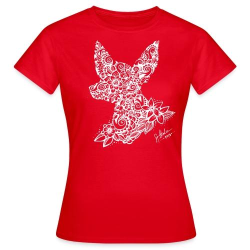 Mandalakoira Tiny White - Naisten t-paita
