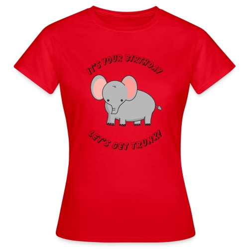 elephant birthday - Frauen T-Shirt