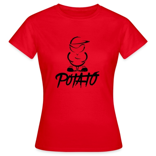 Potato logo black Big - Vrouwen T-shirt