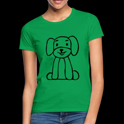 hund sitzt - Frauen T-Shirt