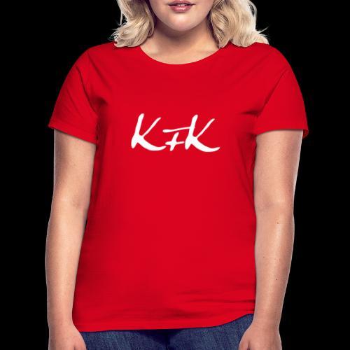 KFK logo blanco - Camiseta mujer