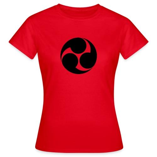 Kobayakawa Mon Japanese clan black - Women's T-Shirt