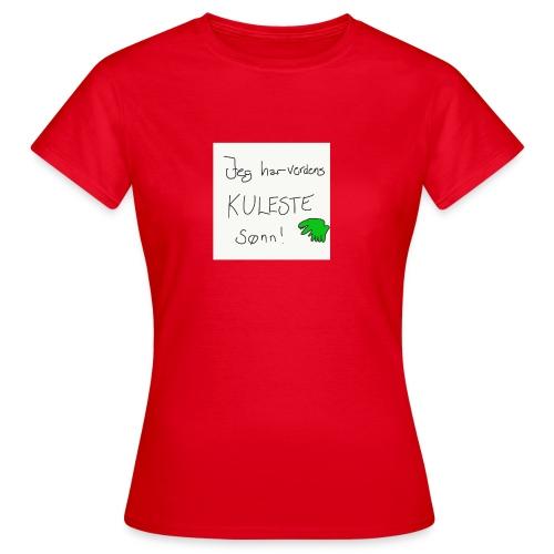 Kul sønn - T-skjorte for kvinner