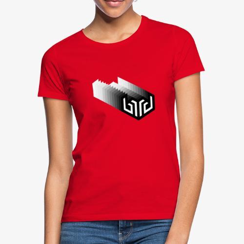 bird logo fade, white - Women's T-Shirt