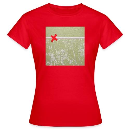 Wand mit Pflaster - Frauen T-Shirt