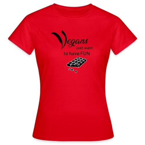 Vegans just want to have fun - tinte chiare - Maglietta da donna