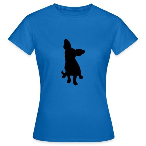 Chihuahua istuva musta - Naisten t-paita