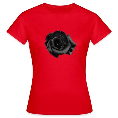 Svart Och Vit Ros - T-shirt dam