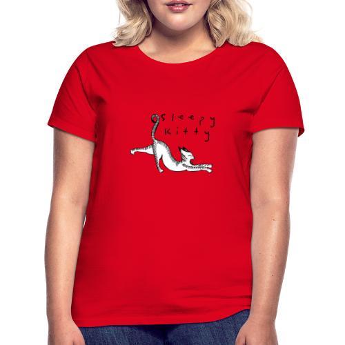 The sleepy kitty - T-shirt dam