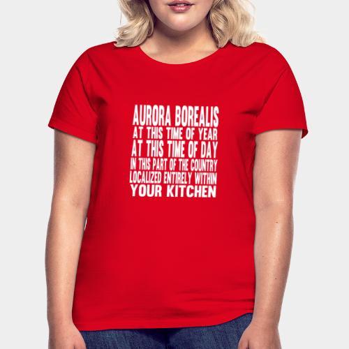Aurora Borealis White - Women's T-Shirt