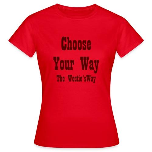 Choose Your Way Brown - Koszulka damska