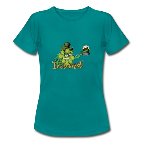 Shamrock with the beer - Women's T-Shirt
