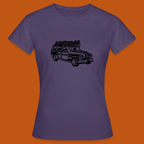 Chevy Cadilac Woodie / Oldtimer Kombi 01_schwarz - Frauen T-Shirt