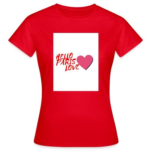 hello paris love rouge - T-shirt Femme