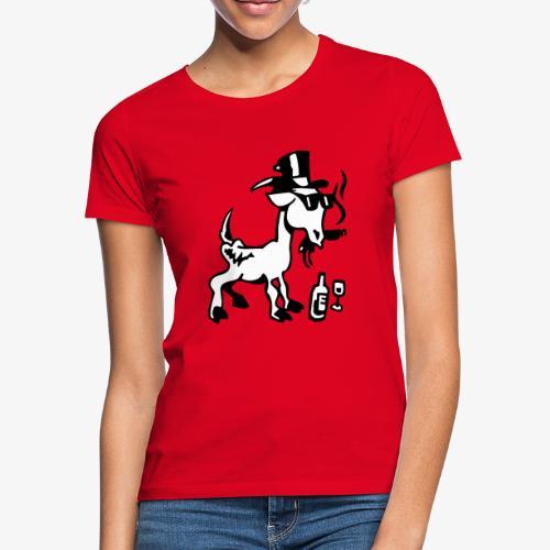 Bock auf Shirts ohne Text schwarz und weiß gefärbt - Frauen T-Shirt