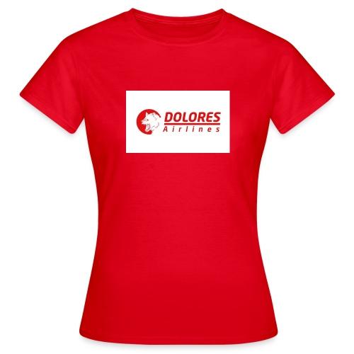 dolores airlines jpg - T-shirt Femme