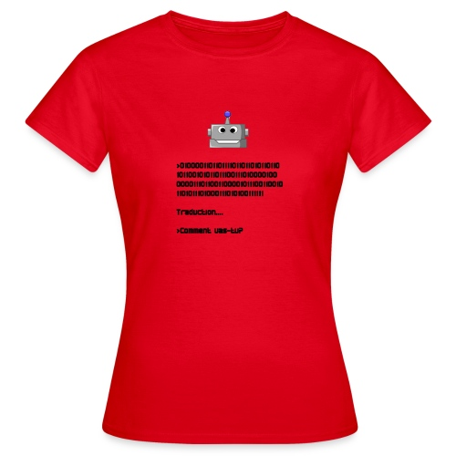 Salutation robotique - T-shirt Femme